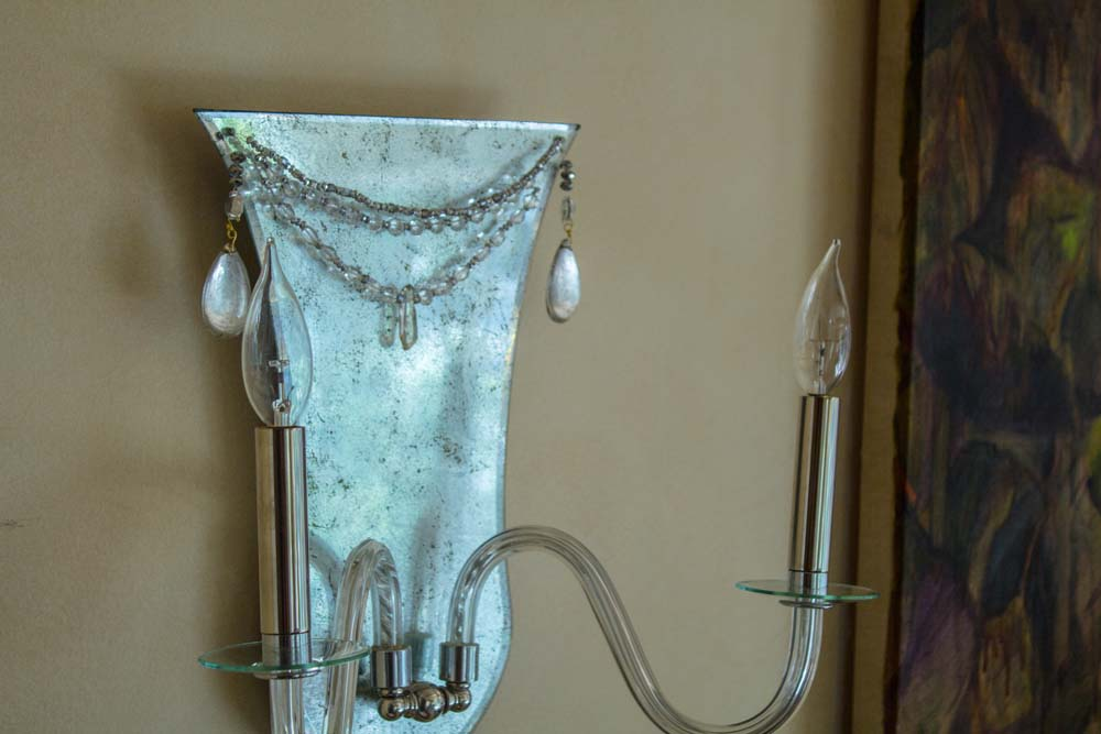 Jeweled Urn Sconce