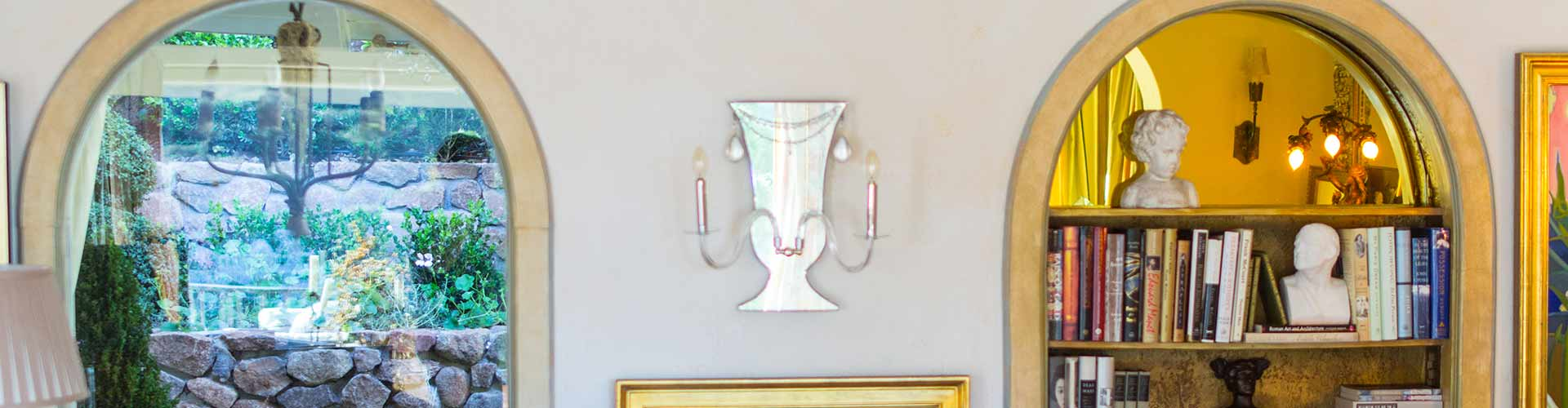 Jeweled Classically Shaped Sconces
